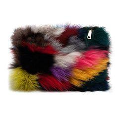 1d79075837 Zarapack Women s Genuine Fur Evening Clutch Handbag Runway Bag Purse Fur Bag