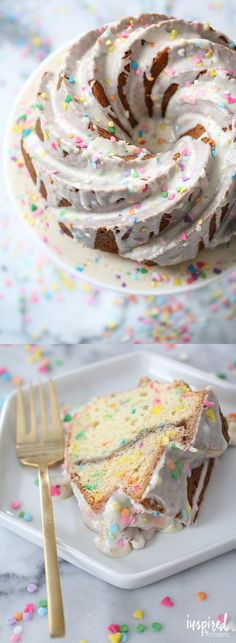 Funfetti Coffee Cake! A fun birthday breakfast treat! (or, let's be honest, any time of the day!)