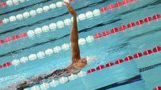 Coralie Balmy à la piscine olympique de Dijon en juillet 2013 lors de la préparation aux championnats du monde de Barcelone © Damien Rabeisen