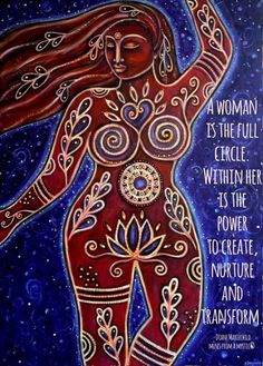 """Inner Goddess"" by Shanti Ines Kassebom www. Earth Goddess, Goddess Art, Painting Inspiration, Art Inspo, Wicca, Sacred Feminine, Mother Earth, Les Oeuvres, Cool Art"