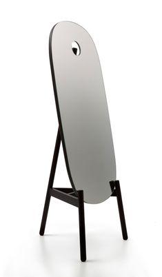 Nendo extends Peg furniture collection for Cappellini Peg mirror Milan Furniture, Living Furniture, Furniture Design, Bedroom Furniture, Mirror Hangers, Bed Shelves, Interior Wallpaper, Standing Mirror, Wallpaper Magazine