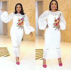 Hi Beautiful Ladies , Today, we are presenting you with some awesome Ankara combinations styles. Hi Beautiful Ladies , Today, we are presenting you with some awesome Ankara combinations styles. African Lace, African Dress, African Blouses, African Attire, African Fashion Dresses, White Outfits For Women, Clothes For Women, Dinner Gowns, Africa Fashion