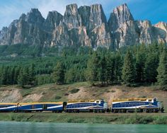 Best train journeys in North America    Rocky Mountaineer passes Castle Mountain outside Banff, Alberta