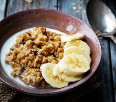Peanut Butter Oatmeal by foodess #Oatmeal #Peanut_Butter