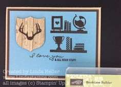 **Today is the day Stampin' Up added 3 new Sale-A-Bration items freebies! See bottom of post for details!** The first time I saw the Bookcase Builder stamp set in the Occasions catalog, I kn…