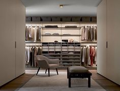 Poliform modern wardrobe collection claims prominence in the night area. Italian furniture design in modern and contemporary style. Walk In Closet Design, Wardrobe Design, Closet Designs, Walking Closet, Walk In Wardrobe, Modern Wardrobe, Contemporary Kitchen Design, Contemporary Furniture, Luxury Closet