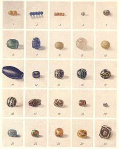Rus Kievan beads 12th century.  Interesting to see what the beads were like leading up to the 15th century.