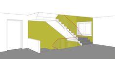 rammschutz wandschutz treppenhaus modern treppenhaus. Black Bedroom Furniture Sets. Home Design Ideas