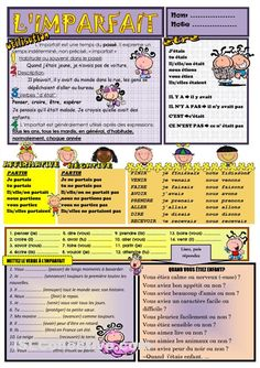 L'IMPARFAIT Ap French, Core French, French Verbs, French Grammar, French Teaching Resources, Teaching French, How To Speak French, Learn French, French Worksheets