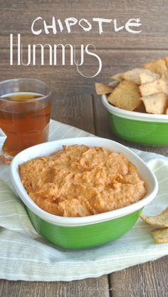 Chipotle Hummus has just enough pazazz to add a little kick to your dip. Extremely easy to make and it goes equally well with pita chips and/or veggies.