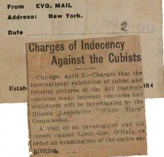 Art News?: The 1913 Armory Show was charged with indecency for showing Cubist art! Cubist Art, Art Techniques, American Art, Investigations, New Art, Wallace Stevens, Art News, History, Art
