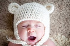 crochet baby bear hat.... @Ellen Page Page Page Page Page Price i will be needing this as well some day ;)