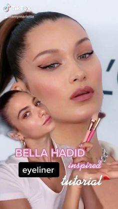 Face Paint Makeup, Diy Makeup, Makeup Inspo, Makeup Inspiration, Makeup Eye Looks, Pretty Makeup, Makeup Eyes, Gigi Hadid Makeup Tutorial, Bella Hadid Makeup