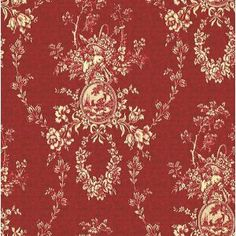 Red Toile Fabric - this is the perfect fabric for my guest room drapes that I need!!!