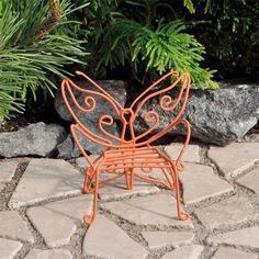 Miniature Orange Butterfly Chair