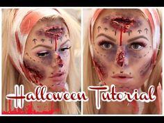 Pre & Post DIY/Botched Plastic surgery    makeup tutorial    - YouTube