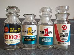 The days when it was easy to open the vitamin bottle. They were made of glass and made a popping noise when you opened them.
