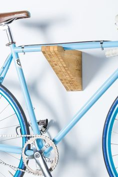 Discover thousands of images about Bike Rack Shelf - Mahogany Wood - Wall Mount - *Burnside* - Also Avail. Bicycle Hanger, Diy Bike Rack, Bike Hooks, Bike Shelf, Bike Storage Rack, Garage Storage, Garage Velo, Outdoor Bike Storage, Bike Wall Mount