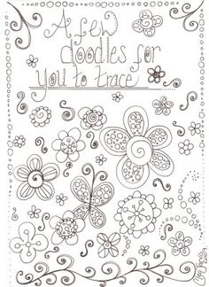 Drawing Doodles Ideas Cleo's Undomesticated scrapbooking bliss: Ooodles of Doodles Tangle Doodle, Doodles Zentangles, Zen Doodle, Doodle Art, Doodle Designs, Doodle Patterns, Zentangle Patterns, Embroidery Patterns, Stitch Patterns