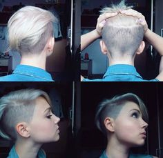 Today we have the most stylish 86 Cute Short Pixie Haircuts. We claim that you have never seen such elegant and eye-catching short hairstyles before. Pixie haircut, of course, offers a lot of options for the hair of the ladies'… Continue Reading → Short Sides Haircut, Short Hair Cuts, Short Hair Styles, Pixie Cuts, Short Pixie, Shaved Side Haircut, Shaved Undercut, Half Shaved Hair, Asymmetrical Pixie