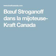 Bœuf Stroganoff dans la mijoteuse- Kraft Canada