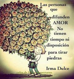 Las Personas Que Difunden Amor, No Tienen Tiempo Ni Disposición Para Tirar Piedras ...