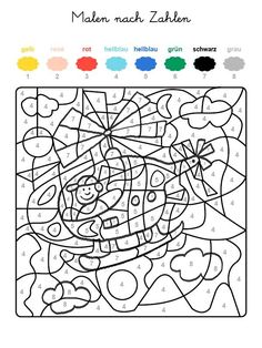 Hidden Picture Color by Number Preschool Lesson Plans, Preschool Worksheets, Preschool Activities, Free Printable Coloring Pages, Coloring Pages For Kids, Olli Und Molli, Letter C Activities, Wedding Games For Kids, Christmas Math Worksheets