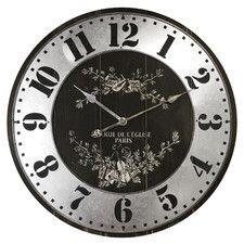 """Oversized 27"""" Rue De L'Elise Wall Clock"""
