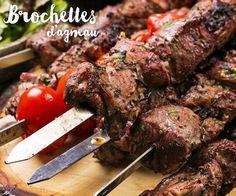#Brochettes d'agneau façon kebab parfaites pour être dégustées en famille ou entre amis.