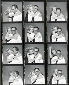 Marilyn Monroe and Arthur Miller. Photos by Richard Avedon, 1957.