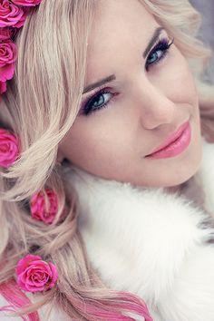 Pink Makeup & Roses