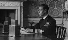 King George VI addresses the nation by radio on 4 September 1939, the day after Britain declared war on Nazi Germany. Photograph: Hulton-Deutsch Collection/Corbis