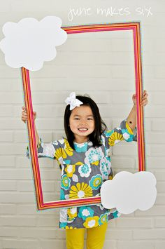 Rainbow Photo Booth Frame by june makes six (Tiffany), via Flickr Photo Booth Frame, Photo Booth Backdrop, Picture Frame, Graduation Theme, Kindergarten Graduation, Rainbow Theme, Rainbow Parties, Party Frame, Unicorn Birthday Parties