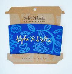 Alpha Xi Delta coffee sleeve