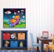 Cuadros Infantiles, Juveniles Parque de atracciones - Decoración de paredes, decoración de habitaciones, ideas de decoración - Trabajo de decoraconimaginacion.com