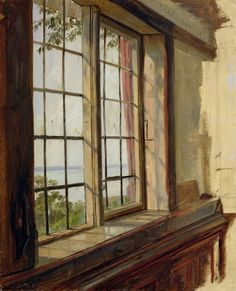 Canvas Print-View of the Elbe through a Window, 1838 (oil on inch Box Canvas Print made in the UK Wall Art Prints, Fine Art Prints, Framed Prints, Canvas Prints, Window View, Window Art, A4 Poster, Poster Prints, Gloss Matte