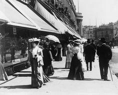 Edwardians on Regent Street, London, England early Victorian London, Vintage London, Old London, Victorian Era, London History, British History, Old Photos, Vintage Photos, Regent Street