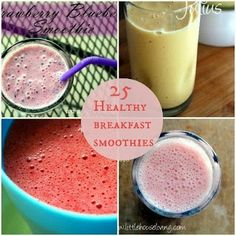 25 healthy breakfast smoothies