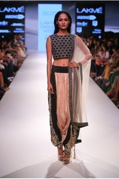 Payal Singhal Indian Wear Collection : PERSIS CROP TOP SET
