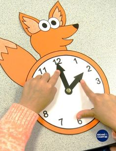 """Fun hands-on telling time activities and ideas for first, second, and even third grade teachers using """"What does the CLOCK say? Telling Time Activities, 3rd Grade Activities, Kids Learning Activities, Toddler Activities, Teaching Clock, Teaching Time, Teaching Math, Clock For Kids, Training Materials"""
