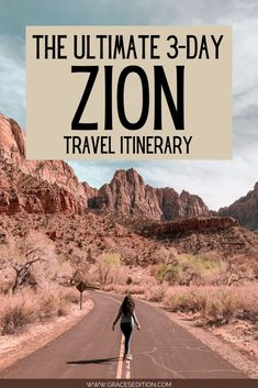 Have a long weekend coming, but not sure where to go? Check out one of my favorite places in the world, Zion National Park, with this 3-Day travel itinerary. Here you will find travel planning tips to help you hike through the Narrows, catch a sunset at Canyon Overlook and so much more! Get ready as adventure awaits! Usa Travel Guide, Travel Usa, Travel Guides, Adventure Awaits, Adventure Travel, Zion National Park, National Parks, Where To Go, Trip Planning