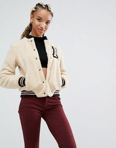 Hot Pink OASAP Coats, Blue Asos Jeans, Hot Pink New Balance