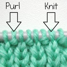 How to identify a knit and purl stitch