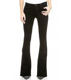 J Brand Martini Skinny Flare Jeans in Black
