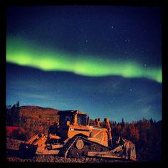 Northern Lights slash through the sky over Livengood