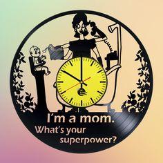 Mother's Day Handmade Vinyl Record Wall Clock Fan Gift - VINYL CLOCKS