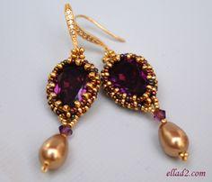 Beading tutorial Aurora earrings tutorial to purchase $5.00