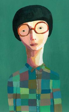 Illustration by Jenny Meilihove - mytinydream.com. Love the green, love the glasses