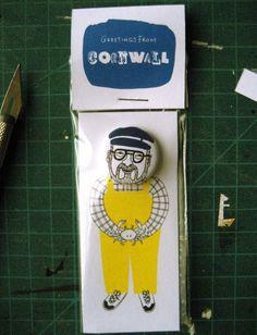 Cornish Fisherman Badge $4