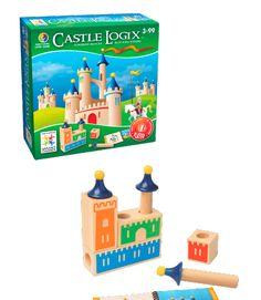 3 AÑOS_JUEGO DE LÓGICA-CASTLE LOGIX Construye castillos bloque a bloque y torre a torre, mientras desarrollas tus capacidades mentales con esta fantástica construcción de madera 3D.